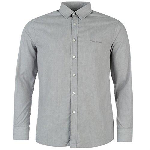 Pierre Cardin -  Camicia Casual  - Maniche lunghe  - Uomo Grau Tck Streifen Large