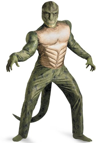 Disguise Men's The Amazing Spider-Man Movie - Lizard Muscle Plus Adult Costume