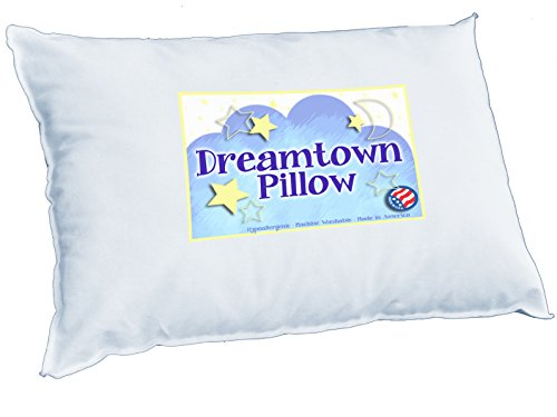 Toddler Pillow-CHIROPRACTOR RECOMMENDED. Best for Kids, Travel OR as baby Nursing Pillow. Hypoallergenic. Perfect for sleeping in bed, crib, daycare, or carseat. Made in USA - 1