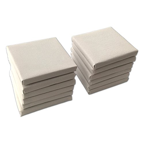 LWR Crafts Mini Stretched Canvas 3″ X 3″ Pack of 12