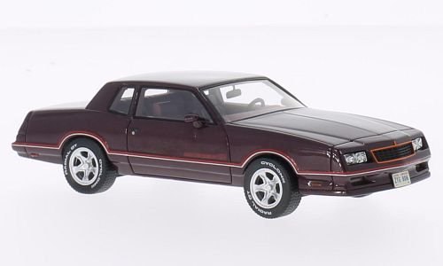 Chevrolet Monte Carlo SS, metallic-dark red, 1986, Model Car, Ready-made, Neo 1:43