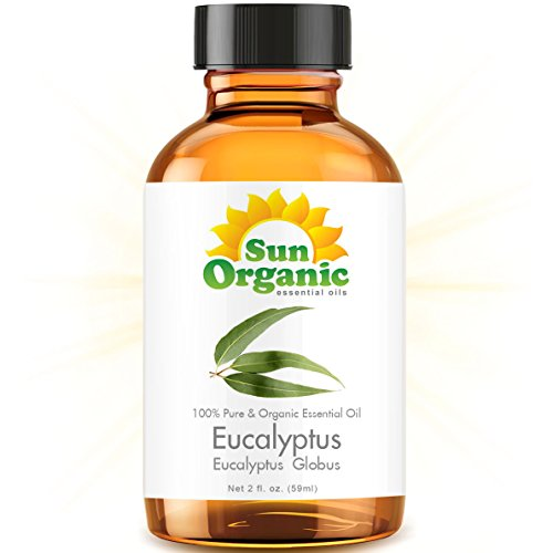 Organic Eucalyptus (2 Fl Oz) Essential Oil 100% Pure -- Best 2 Ounces (59Ml) -- Sun Organic