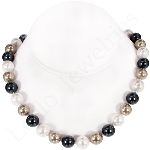 Mother of Pearl Necklace with Magnetic Lock