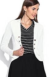 Colors Couture Women's Cotton Jacket (CC-2110T0_S_Small_White)