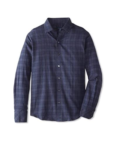 Zachary Prell Men's Isaac Long Sleeve Windowpane Shirt