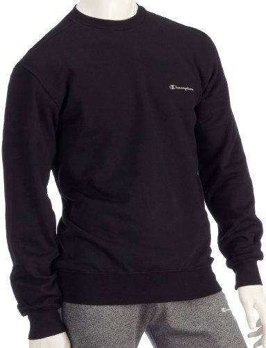 champion-sweat-shirt-pour-homme-a-col-rond-204079-large-noir-noir-argent