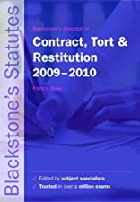 Blackstone s Statutes on Contract Tort and Restitution by Francis Rose