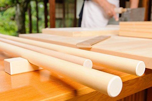 【日本製・職人手づくり】麺棒/めん棒/のし棒 φ25~30mm/ウォールナット そば/蕎麦打ち道具 (径28mm, 900 ミリメートル)
