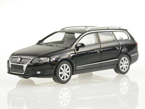 VW-Passat-B6-Variant-schwarz-deep-black-perleff-Modellauto-Wiking-187