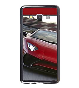 Luxury Red Car 2D Hard Polycarbonate Designer Back Case Cover for Samsung Galaxy A7