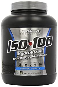 Dymatize Nutrition Dymatize Nutrition Iso 100 0 Carb Whey,Gourmet Vanilla, 3 Pounds