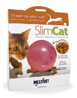 Multivet Slimcat Cat Toy Feeder Ball (Pink)