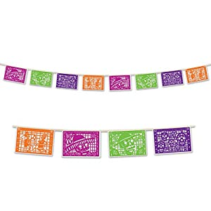Beistle Day Of The Dead Picado Banner, 8 by 12-Feet, Multicolor by Beistle