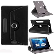 "Hello Zone Exclusive 360° Rotating 7"" Inch Flip Case Cover Book Cover For Micromax P70221 Tablet -Black"