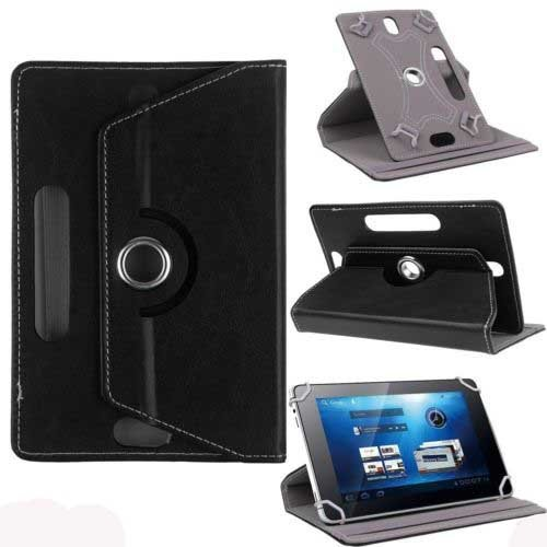 """Hello Zone Exclusive 360° Rotating 7"""" Inch Flip Case Cover Book Cover For Asus NEXUS7 ASUS-1B32 Tablet -Black"""