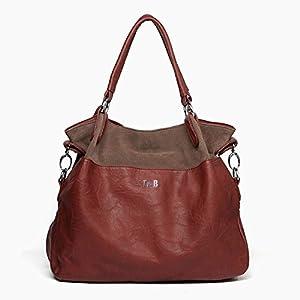 Ilishop Women's Classic Fashion Tote Handbag Shoulder Bag Perfect Large Tote with Shoulder Strap