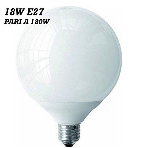 LAMPADA LED 18W ATTACCO E27 BIANCO CALDO BIANCO FREDDO 18W=180W RISPARMIO ENERGETIC 80% A+ (Bianco Caldo)