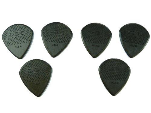 Dunlop 471R3C - Plettro per chitarra Max Grip III in fibra di carbonio (Confezione da 6)