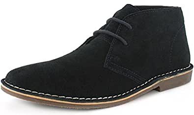 New Mens/Gents Blue Red Tape Lace Up Suede Upper Desert Boots. - Navy - UK SIZE 6