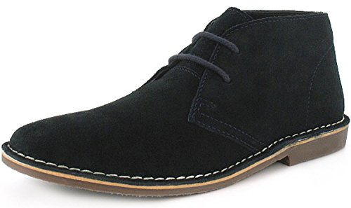 New Mens/Gents Blue Red Tape Lace Up Suede Upper Desert Boots. - Navy - UK SIZE 11