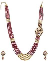 Arnav Creations Purple Metal Multi-Strand Necklace Set For Women (ACN41)
