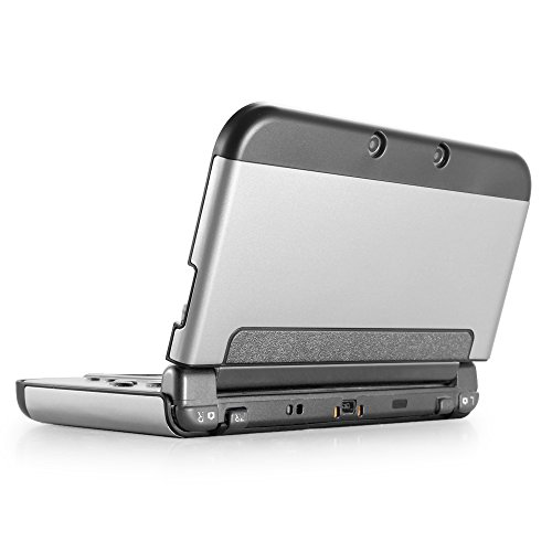 TNP New 3DS Case (Silver) - Plastic + Aluminium Full Body Protective Snap-on Hard Shell Skin Case Cover for New Nintendo 3DS 2015 (Sprint Samsung Galaxy S3 Otterbox compare prices)