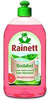 Rainett  Liquide Vaisselle Ecologique Pamplemousse  500 ml  Lot de 4