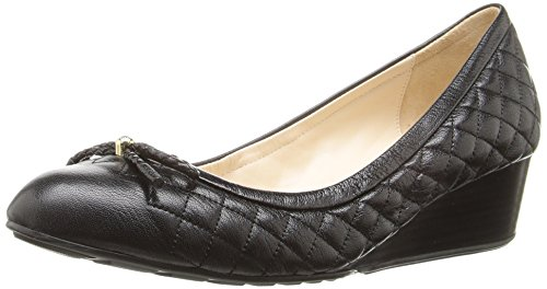 Cole Haan Women's Tali Grand 40mm Wedge Pump, Black Quilted Leather, 6.5 B US (Cole Haan Shoes Women Wedge compare prices)