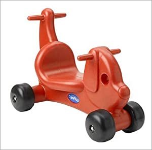 Puppy Dog Ride - On / Walker with Handles in Red