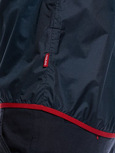 WOLDO Athletic Herren Regenjacke Windbreaker mit Kapuze Brusttasche wasserdicht atmungsaktiv winddicht slim fit (L, Tretjak / blau) -