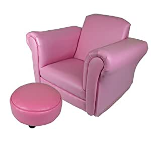 Kids rocking chair sofa set foot rest childrens armchair for Kids pink armchair