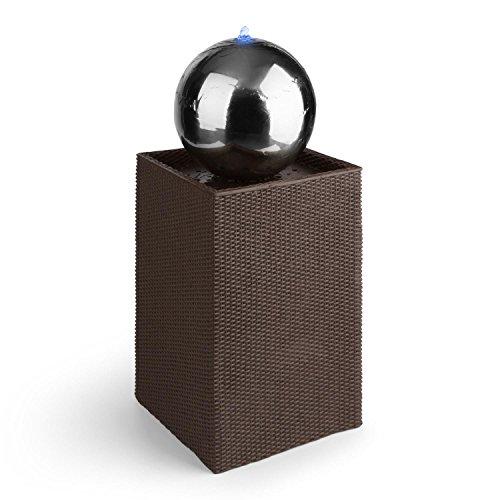 blumfeldt durance zierbrunnen garten deko und zimmer brunnen kugel springbrunnen f r drinnen und. Black Bedroom Furniture Sets. Home Design Ideas