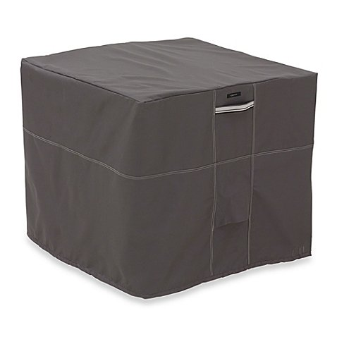 Classic Accessories Ravenna Square Air Conditioner Cover in Dark Taupe