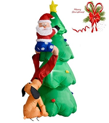 Airblown Inflatable Christmas Tree Santa Decor Lighted 6 FT