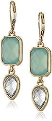 "Anne Klein ""Shades of Green"" Gold-Tone Multi-Leverback Drop Earrings"