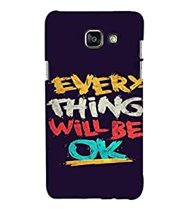 EPICCASE Things will be ok Mobile Back Case Cover For Samsung Galaxy A7 (Designer Case)