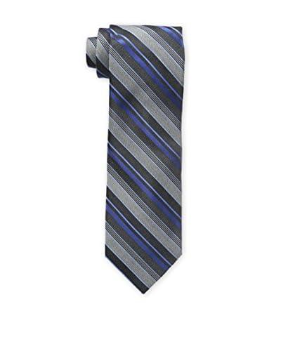 Bruno Piattelli Men's Classic Multi Stripe Tie, Blue