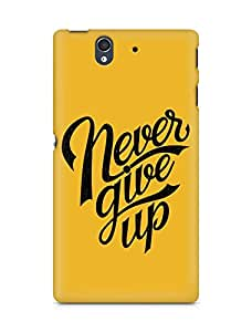 AMEZ never give up Back Cover For Sony Xperia Z
