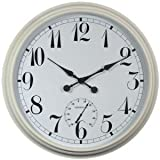Big Time Outdoor Garden Clock - White - 90cm (35.4