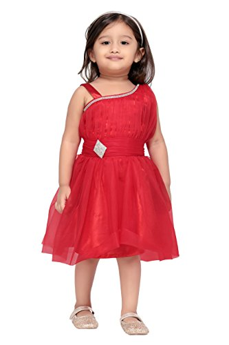 Aarika Baby Girls' Party Wear Frock(FK-4029-Red_2-3 Years)