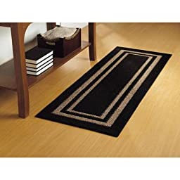 Mainstays Frame Border Runner 1\'9 x 5\' Black