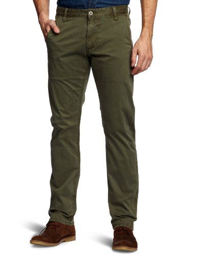 Dockers Alpha Khaki Summer Twill Chino Tapered Men's Trousers Olive W36INxL32IN