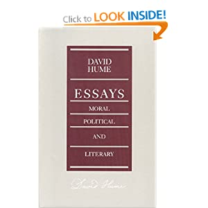hume essays moral and political Secondly, i will look at how hume argues that it is never reasonable to believe in miracles.