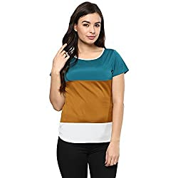 STYLEBAY Women Multi-Coloured Crepe Top (CST002, X-Small)