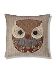 Oliver Owl Appliqué Cushion