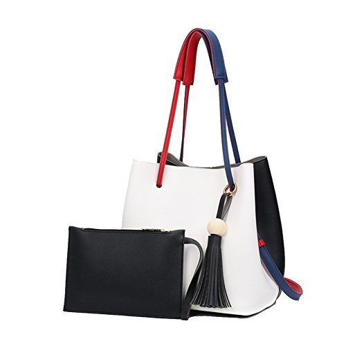 Fashion Leather Bucket Crossbody Women Shoulder Bag,Small Purses Handbag(White) (Jelly Handbags Furla compare prices)