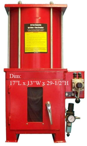 10 Ton Air Hydraulic Oil Filter Can Crusher with Stand (Can Crusher Stand compare prices)