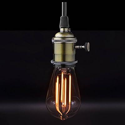 Vintage Led Light Bulbs ST64 E27 40W Equivalent Bulb - Warm Glow Retro Style Vintage Edison LED Bulbs