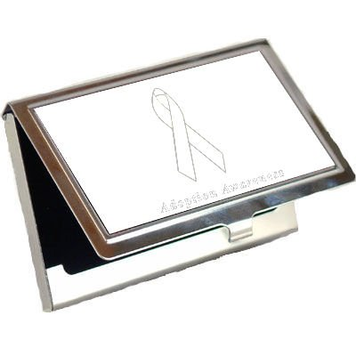 Adoption Awareness Ribbon Business Card Holder