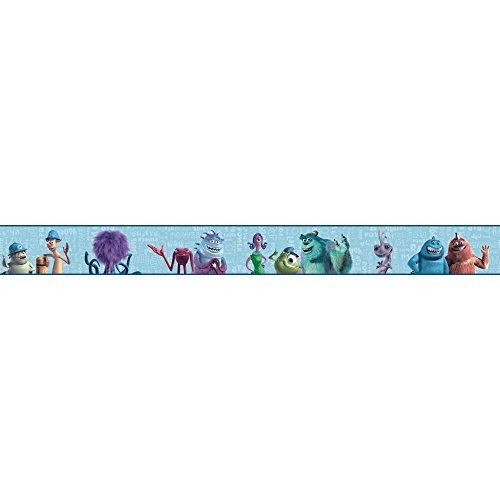 York Wallcoverings DS7745BD Walt Disney Kids II Monsters Inc Border, Aqua/Blues/Purples/Greens/Black/White (Monsters Inc Wallpaper compare prices)